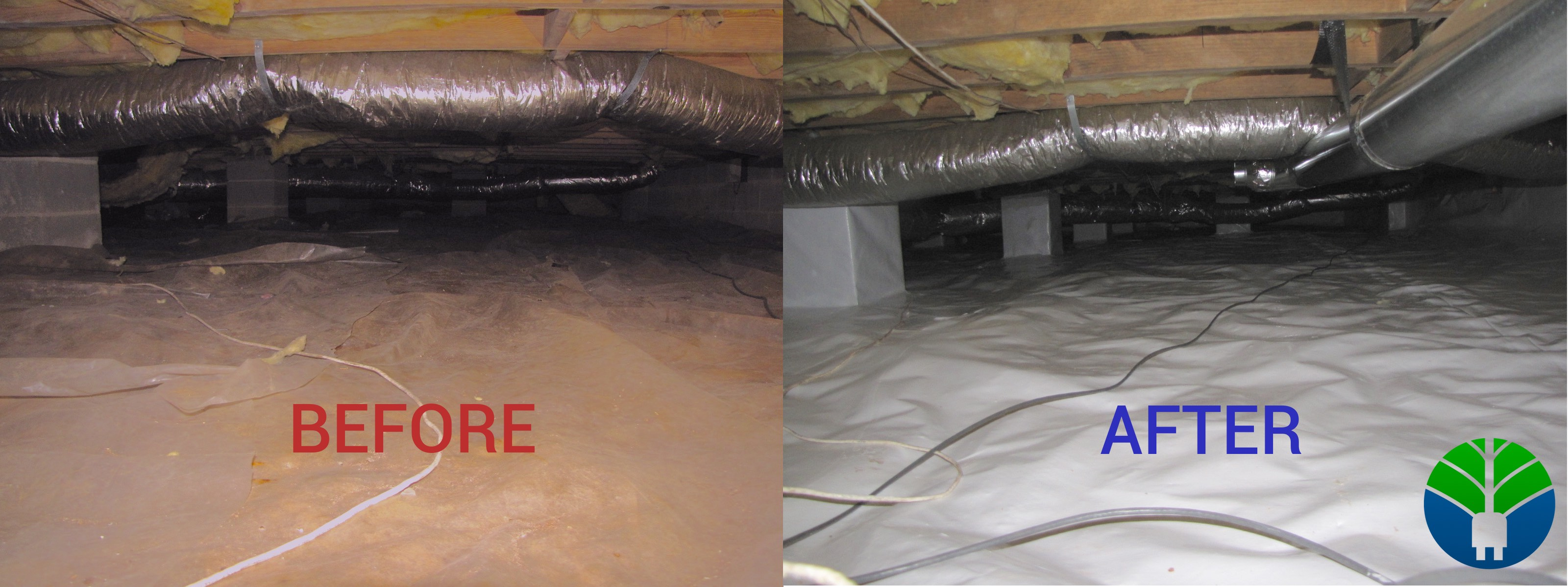 Sealed crawlspaces